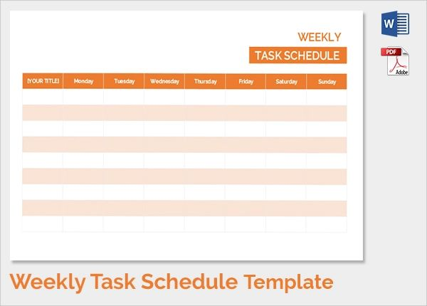 plan schedule template