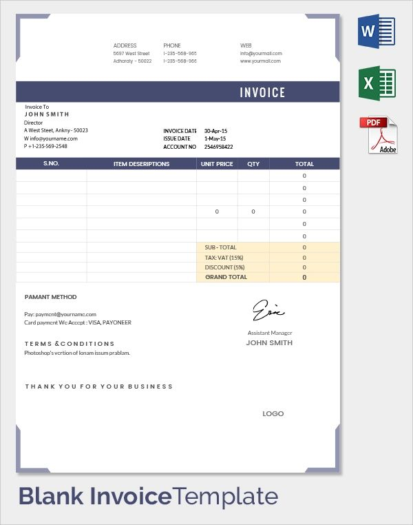 free invoice template word document