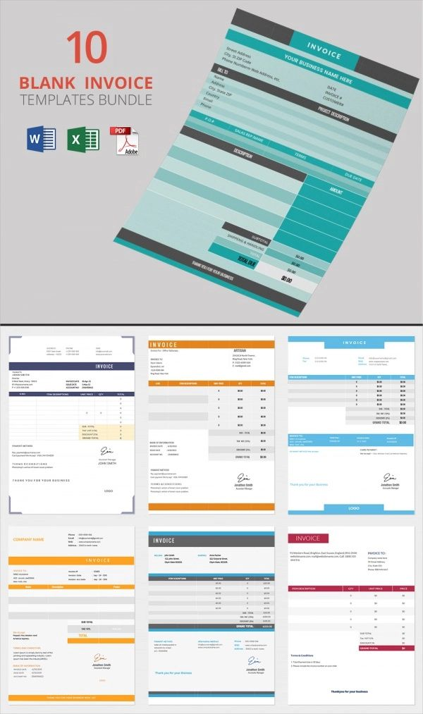 print blank invoice