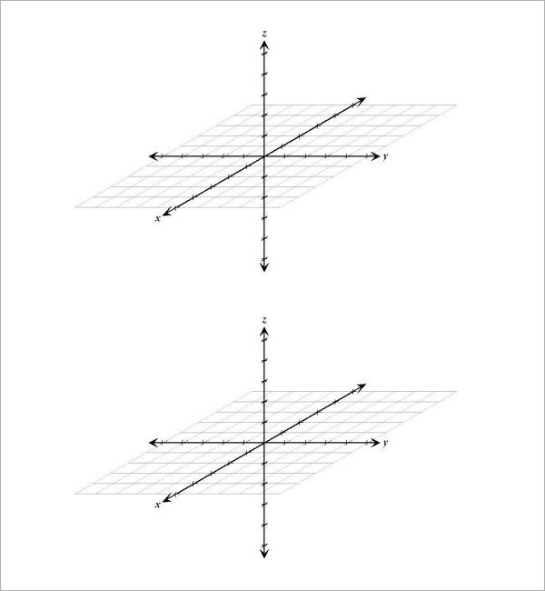 three dimensional graph paper