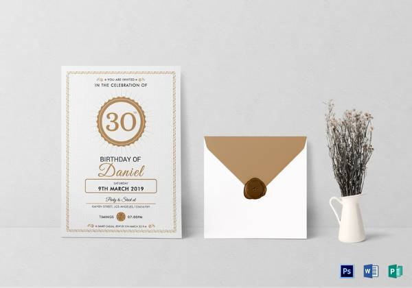 50 Printable Birthday Invitation Templates Sample Templates