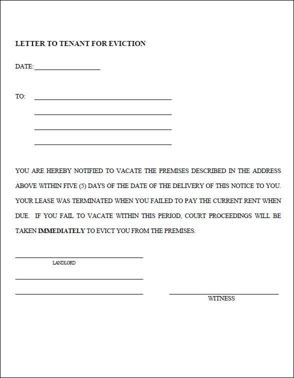 43 Eviction Notice Templates  PDF DOC Apple Pages