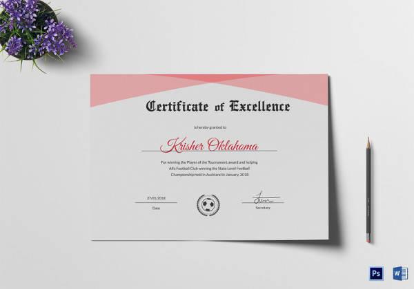 Football Certificate Borders