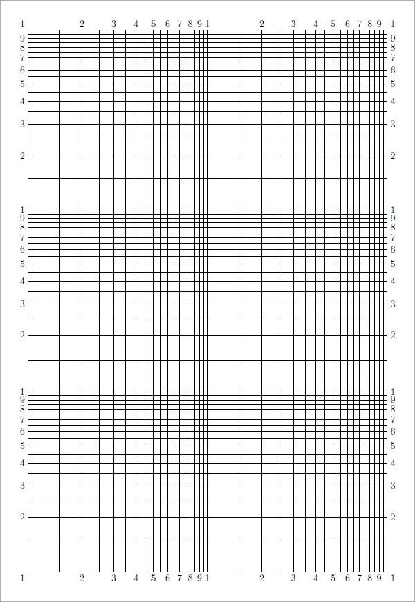 printable logarithmic graph paper