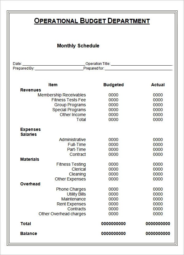 Sample Monthly Schedule Template 8 Free Documents In PDF Doc