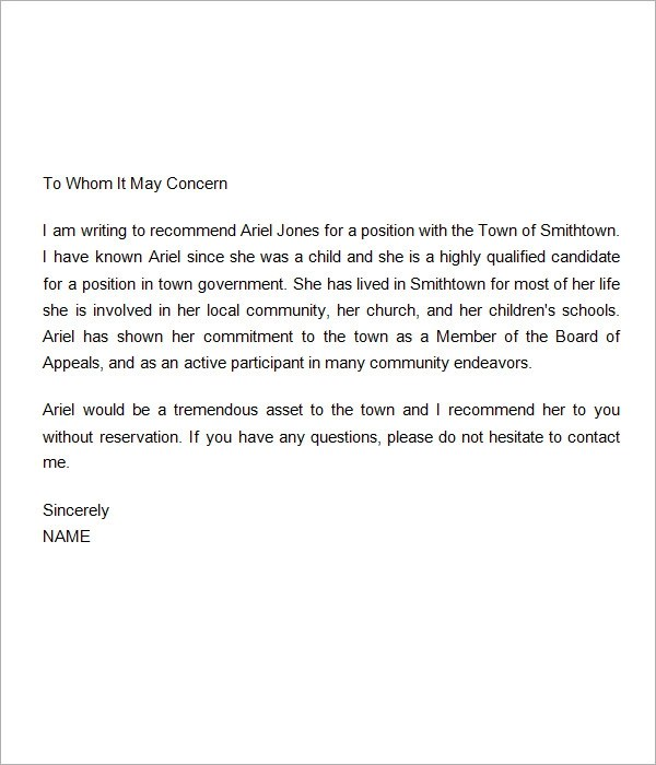 Personal Letter of Recommendation  14 Download Free