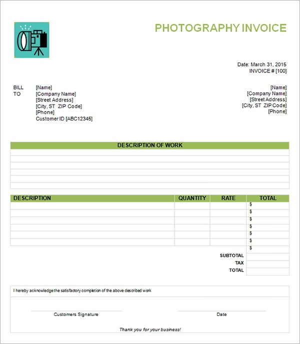Blank Invoice Template  Documents In Word Excel Pdf