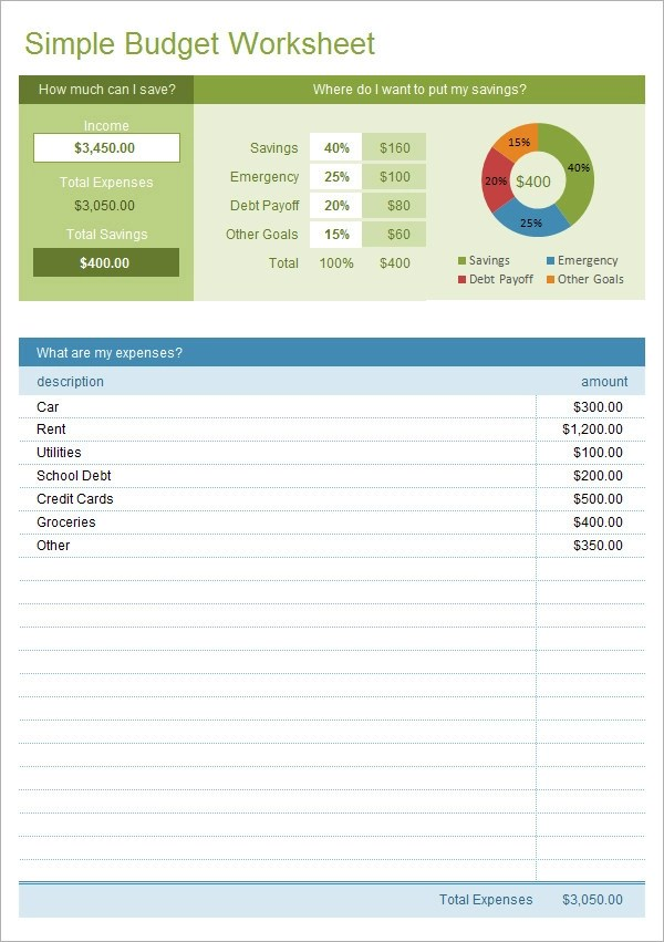 11 Sample Budget Templates in Excel | Sample Templates