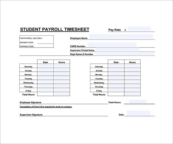template to calculate hours worked