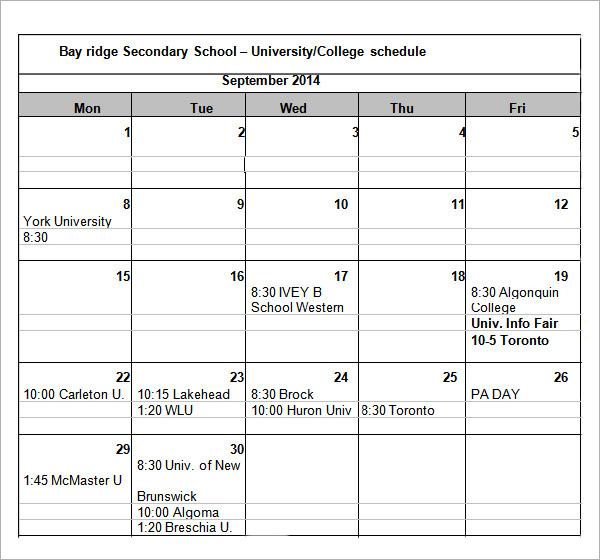 schedule maker college