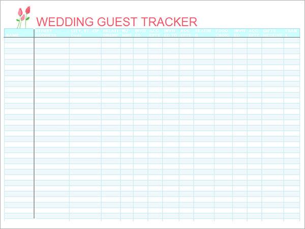 17 Wedding Guest List Templates  PDF Word Excel