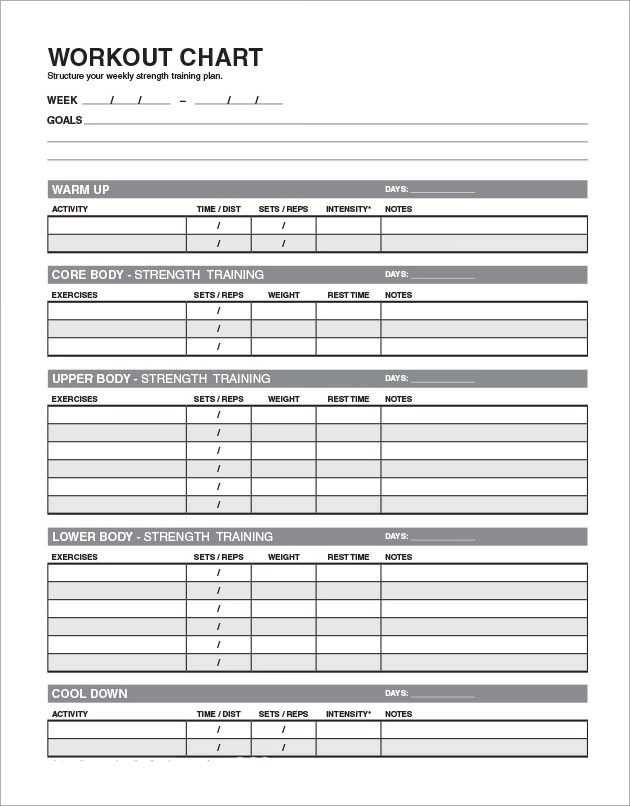 daily workout schedule template - April.onthemarch.co