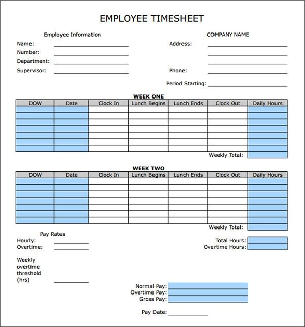 excel timesheet with lunch break