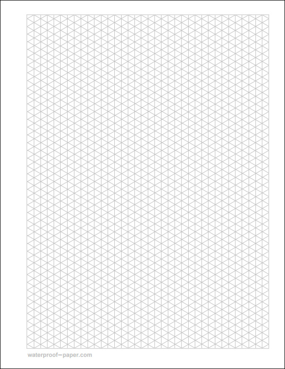 FREE 12+ Free Printable Isometric Graph Paper in PDF