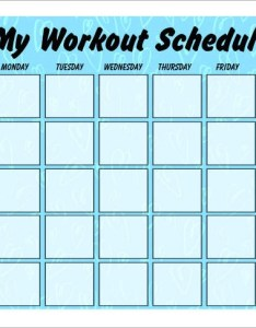 Weekly work out schedule also sample workout schedules templates rh sampletemplates