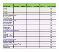 Free Printable Monthly Budget Worksheets - 7 bi weekly ...