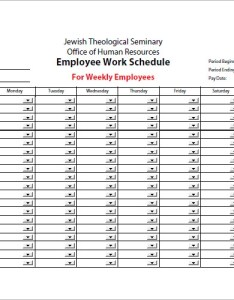 Sample of work schedule template free printable employee weekly chart also maggib rural rh