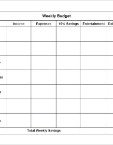 Simple weekly budget also examples of bi templates sample rh sampletemplates