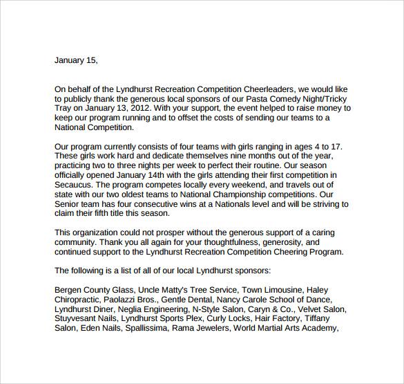 Baseball Sponsorship Letter | Docoments Ojazlink