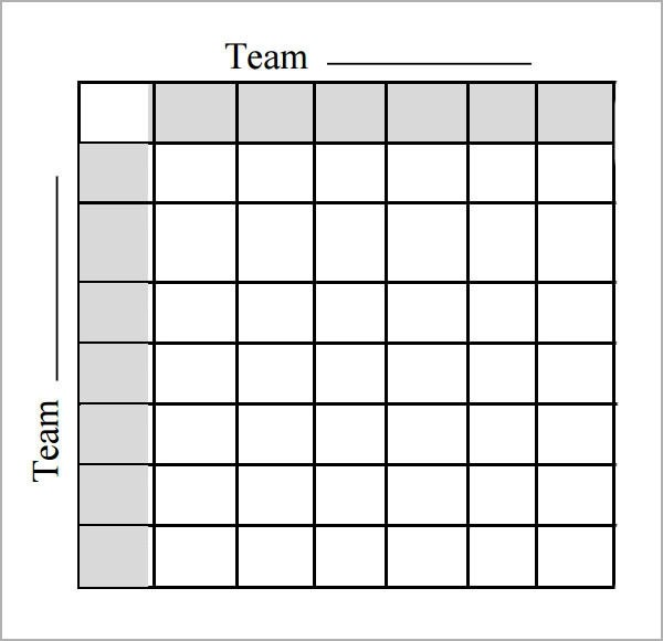 100 Square Football Pool Template
