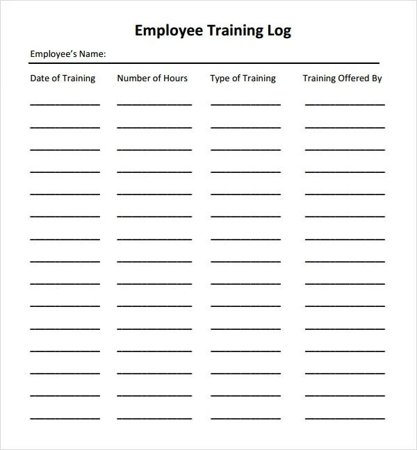 Employee Training Form Template Pictures to Pin on