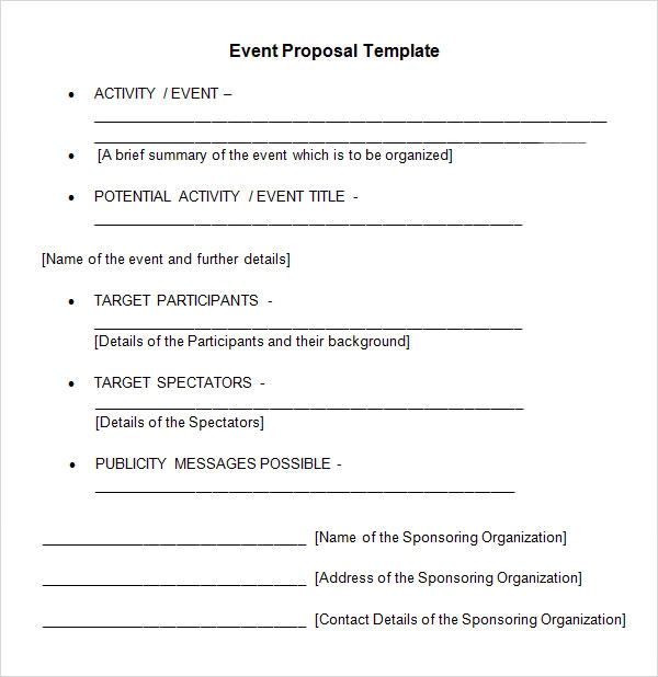 Event Management Rfp Template - Resume Examples | Resume