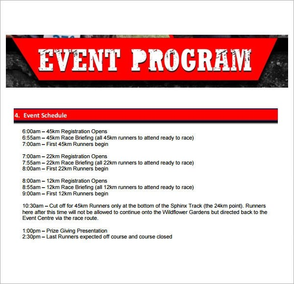 Event Program Gallery
