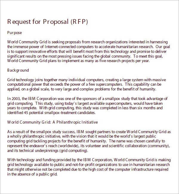 Request For Bid Proposal Template | Designmore