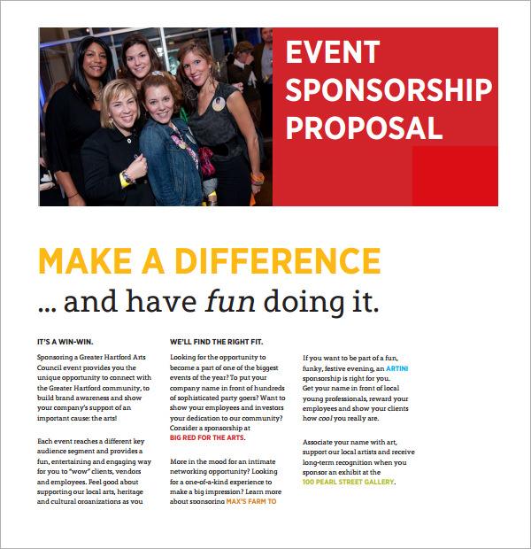 sample proposal letter for sponsorship