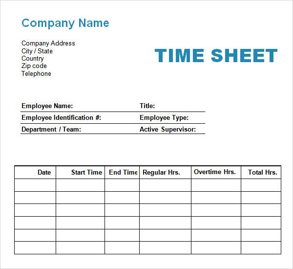 11+ Time Log Templates – PDF, Word | Sample Templates