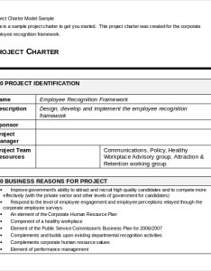 Project charter model sample also templates rh sampletemplates
