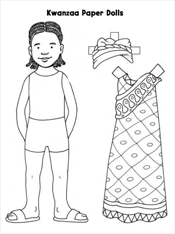 Paper Doll Template 8 Free PDF DOC Download Sample