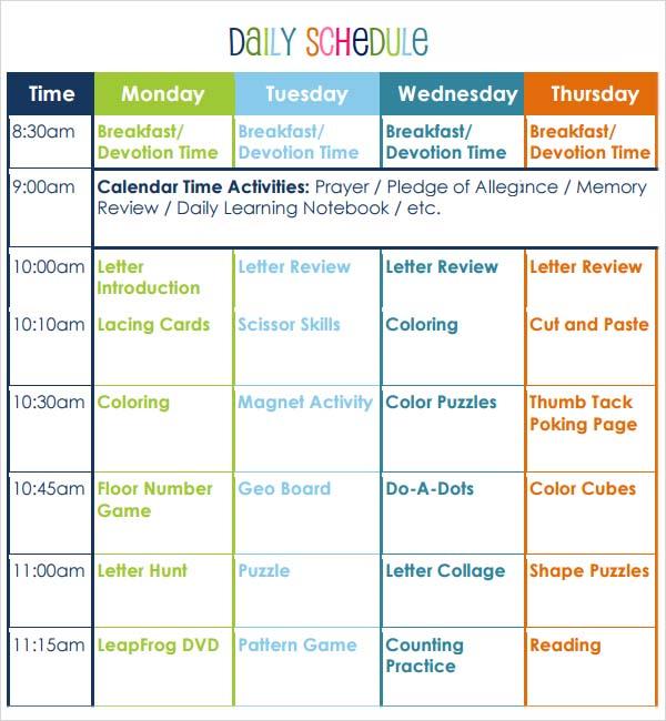 Sample Preschool Lesson Plan Preschool Lesson Plan Template Sample