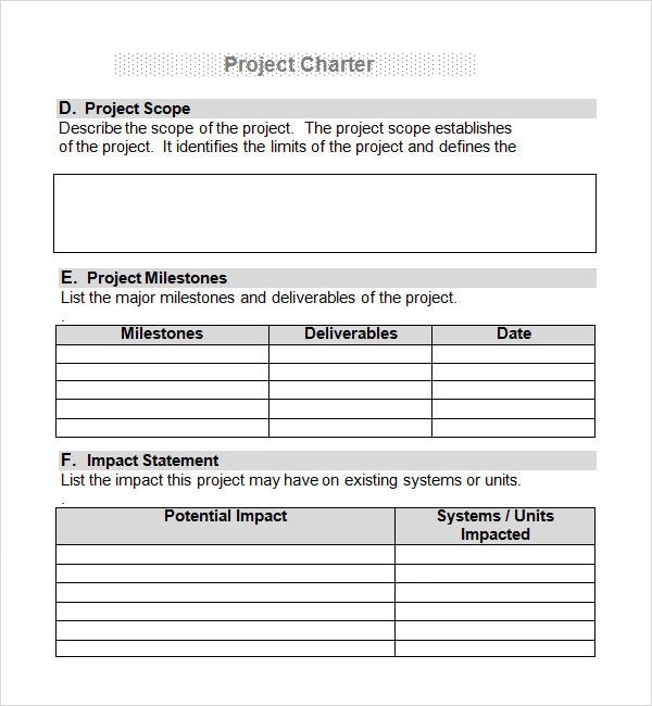 Project Charter 7 Free PDF DOC Download Sample