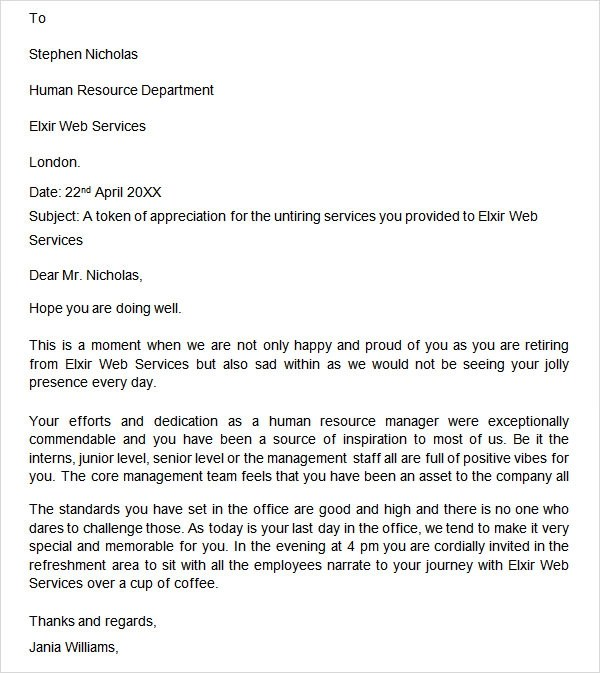 Retirement Letter  20 Download Free Documents in PDF Word