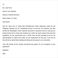 Service tax authorization letter