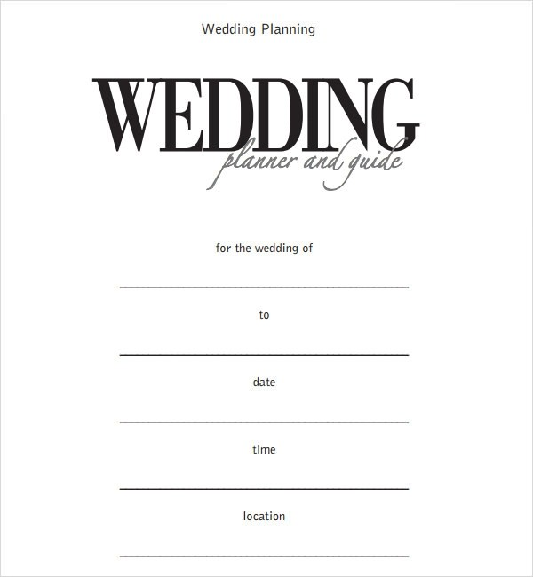 6 Sample Wedding Timeline Templates to Download for Free  Sample Templates