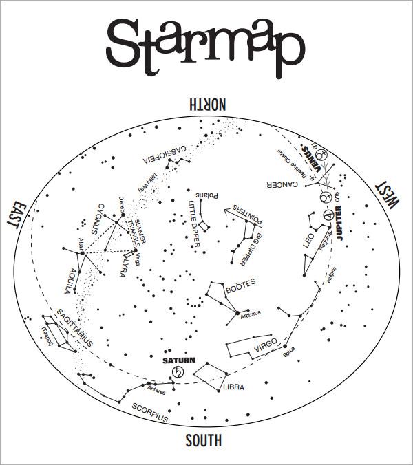 FREE 7+ Sample Star Charts in PDF