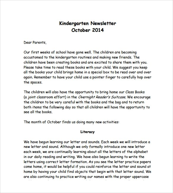 Most support dei, but don't know how to implement it. Free 10 Sample Kindergarten Newsletter Templates In Pdf Ms Word Psd Html