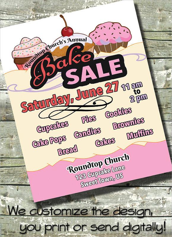 bake sale flyer wording