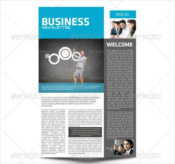 10 Sample Business Newsletter Templates For Premium Download Sample Templates