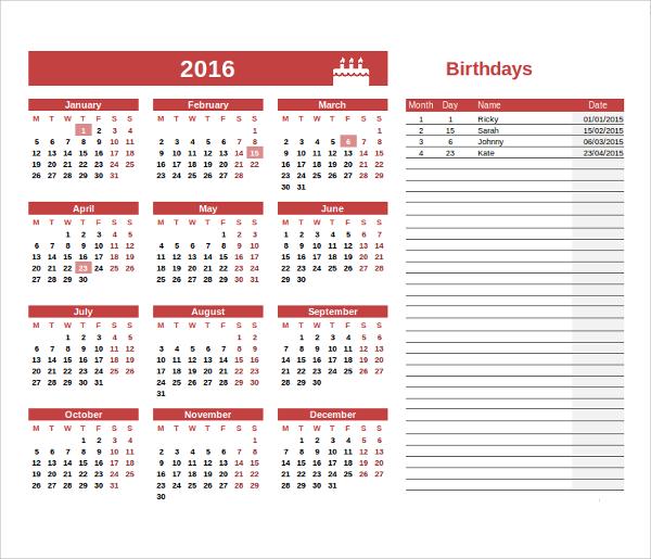 calendar word templates