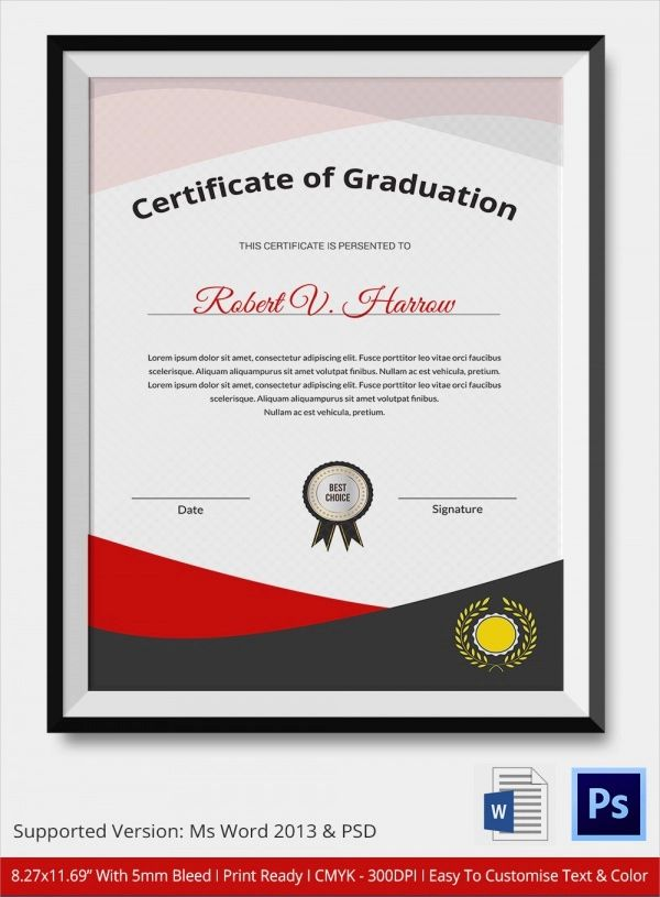 diploma template word free