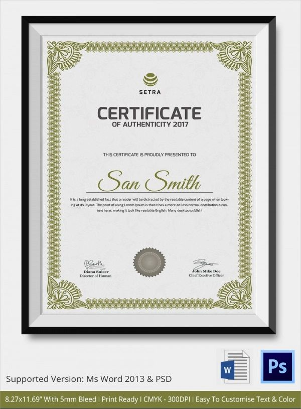 free downloadable certificate templates in word
