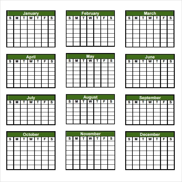 8 Sample Yearly Calendar Templates to Download | Sample Templates