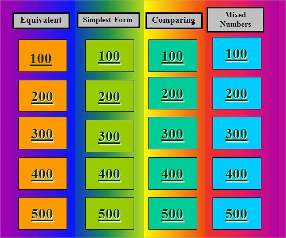 Sample Jeopardy Powerpoint Template 9 Free Documents In PPT