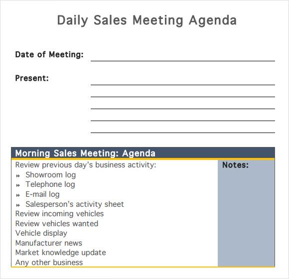 Sample sales meeting agenda template. Free 7 Sales Meeting Agenda Templates In Pdf Ms Word