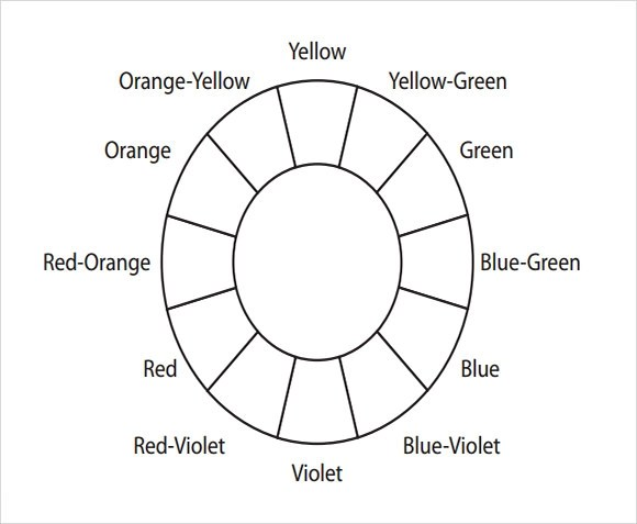 FREE 5+ Sample Color Wheel Chart Templates in PDF