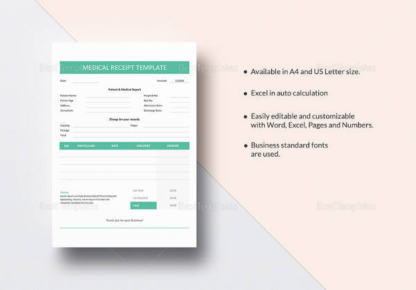 medical invoice template word