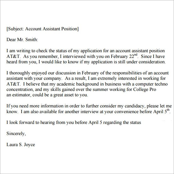 Interview Receivable You Thank Examples Stand Out Accounts Letter
